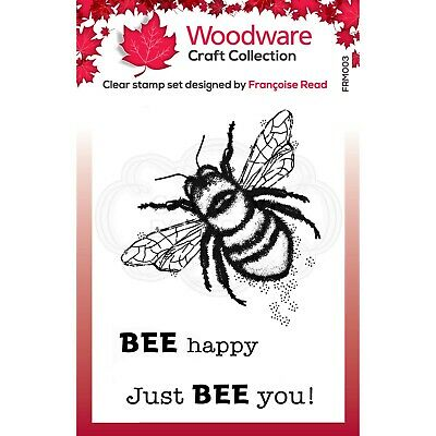 LITTLE BEE - Mini Clear Magic Stamps - Woodware • 2.93£