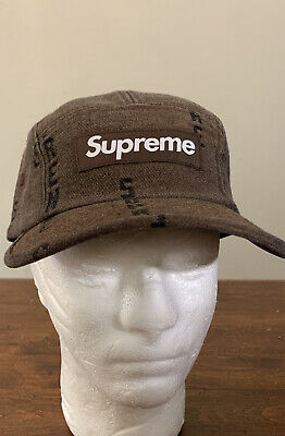 $ CDN113.65 • Buy Supreme Logo Stripe Jacquard Denim Cap Brown Os/ Fw20 Week 6 (in Hand Authentic