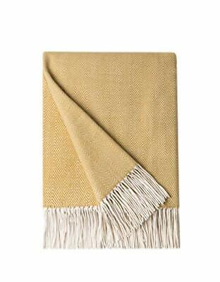 BOURINA Herringbone Sofa Throw Blanket Faux Cashmere Lightweight Soft Cozy Couch • 29.86£