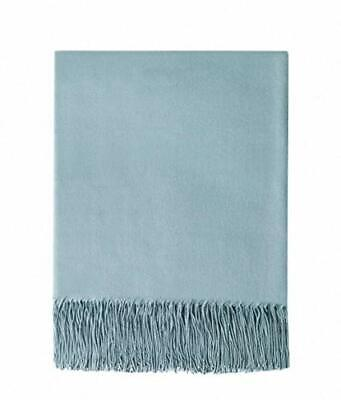 BOURINA Faux Wool Sofa Throw Blanket Faux Cashmere Lightweight Soft Cozy • 28.52£