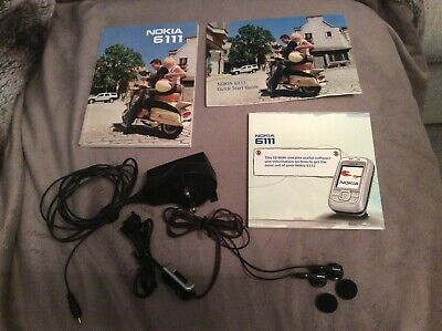 Nokia 6111 Mobile Accessories: Charger, Headphones, Cd-rom Software, User Guide  • 9£