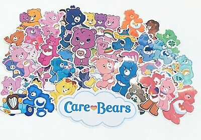 55 Care Bear Stickers-party Bag Fillers/lunchbox-waterproof Vinyl-carebears • 5.99£