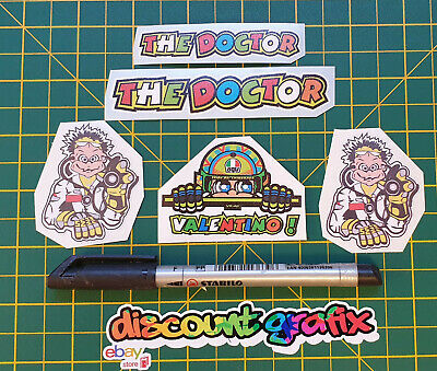 THE DOCTOR Valentino Rossi Stickers X 5 • 2.25£