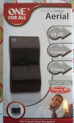 One For All SV9323 Digital Amplified Indoor Aerial DVB-T Freeview TV Antenna • 9.95£