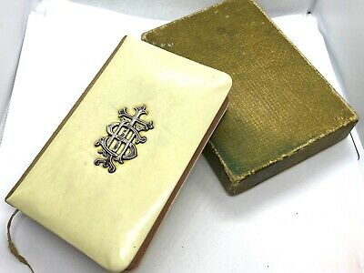 £65 • Buy Antique Book Of Common Prayer Celluloid Cover Hallmarked Sterling Silver Cross