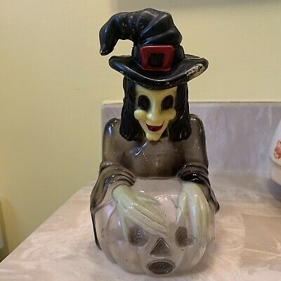 $ CDN196 • Buy Vintage Large Plastic Halloween Witch Candy Container/bank. Hong Kong