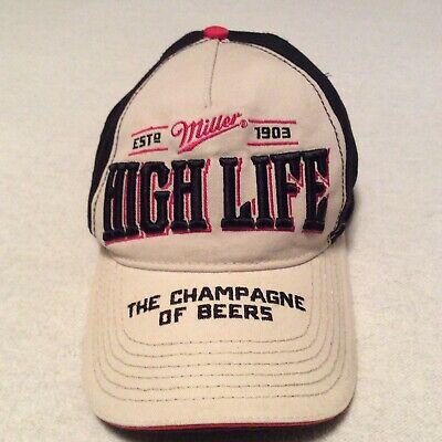 $12.50 • Buy Miller High Life The Champagne Of Beers Adjustable Embroidered Cap