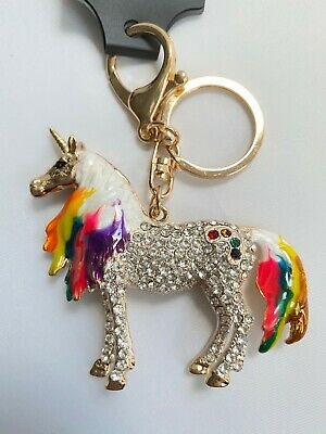 A Beautiful Diamante /& Red Horse Keyring Charm Pendant Purse Bag Key Ring Chain Keychain Gifts