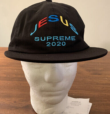 $ CDN113.65 • Buy Supreme Jesus 6-panel Hat Black Os Fw20 Week 5 (in Hand) Authentic, Brand New