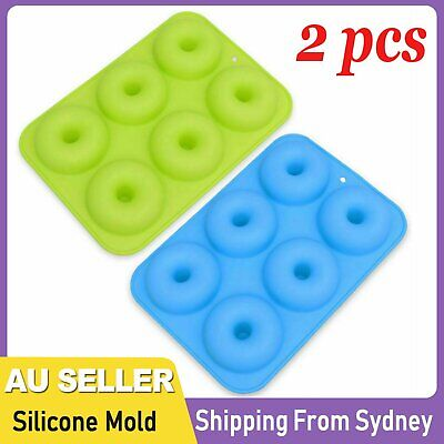 AU10.79 • Buy 2pcs Silicone Donut Mold Muffin Chocolate Cake Cookie Doughnut Baking Mould Tray