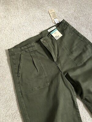 M&S Wide Cropped High Rise Trousers - Light Khaki • 15£