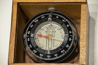Silva Ship/boat Steering Compass Gimballed In Box. Made In Sweden 1960s • 70£