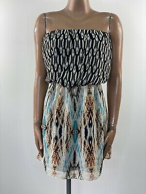 GUESS Los Angeles Strapless Bandeau Dress UK 8 Holiday Summer • 12£