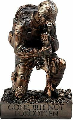 Silent Salute Kneeling Military Soldier With Rifle Statue 8.5 H Bronze NIB  • 19.48£