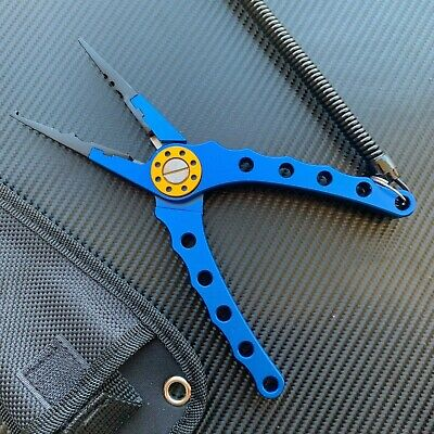 AU21.95 • Buy Aluminum Fishing Pliers Braid Line Cutter Hook Remover Tackle Split Tool + Pouch