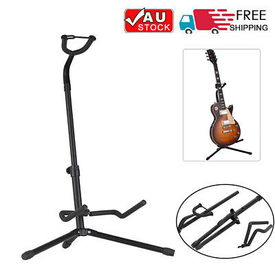 AU17.33 • Buy Folding Guitar Stand Bass Tripod Electric Acoustic Floor Holder Metal