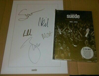 SUEDE - Beautiful Ones  The Best Of Suede 1992-2018 HAND SIGNED Deluxe 4 CD Set  • 48.95£
