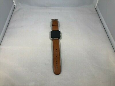 $ CDN336.96 • Buy Apple Watch Series 4 Silver Stainless Steel 44mm W/ Brown Leather Band Good Cond