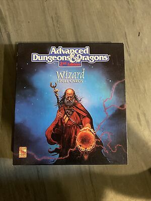 AU133.90 • Buy Advanced Dungeons & Dragons WIZARD SPELL CARDS Box Set TSR 9356 2nd Edition AD&D