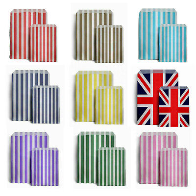 £2.99 • Buy Union Jack Candy STRIPE Paper Bags Sweet Shop Party Wedding Birthday Gift Bags