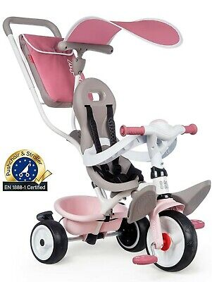 Smoby Pink Comfort Trike With Parent Handle | Push Along Baby Tricycle  • 119.99£