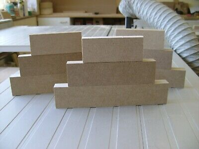 1 X Sets Of 3 Stackers MDF Free Standing Blocks 18mm Wooden Plaques Blanks • 3.35£