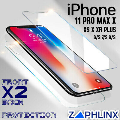 AU3.92 • Buy Screen Protector IPhone Apple 11 XS XR X Pro Max 8 7 6 Tempered Front Back
