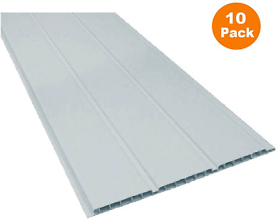 10 X 2.5m Length X 300mm UPVC Plastic Soffit Board Boards White Hollow Cladding • 109.15£
