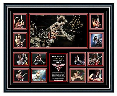 AU99.99 • Buy Eddie Van Halen Tribute Signed Poster Limited Edition Framed Memorabilia