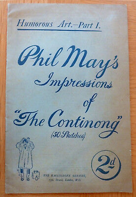 Humorous Art-Part 1 Phil May's Impressions Of The Continong 50 Skectches C1900  • 24.99£