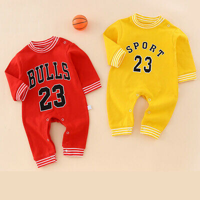 AU16.78 • Buy Newborn Baby Girls Boys Romper Long Sleeve Infant Baby Basketball Clothes Sets