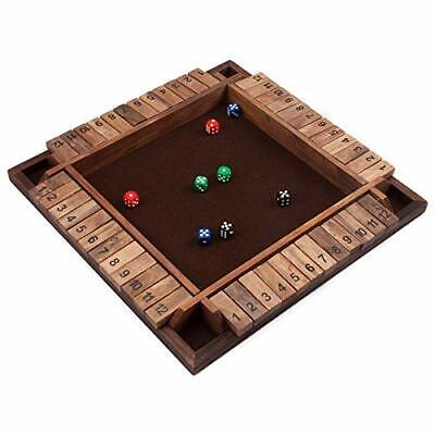 £21.29 • Buy 4-Players 12 Number Shut The Box Board Game W/Dice. Bar Party Family Porch Games