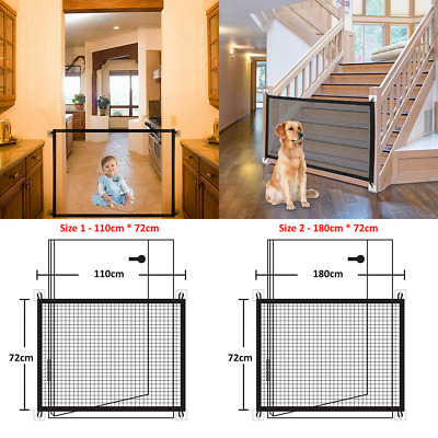 £7.49 • Buy Retractable Pet Dog Gate Safety Guard Folding Baby Toddler Stair Gate Isolation