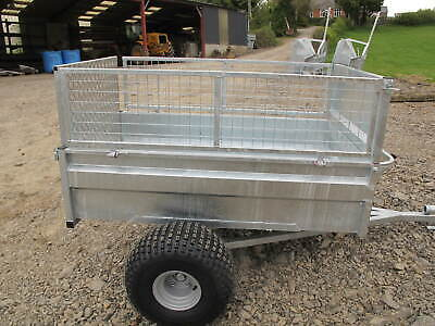 £890 • Buy ATV Tipping Trailer 5x3 With 16  High Sides. Mesh Extension Sides And Low Door.