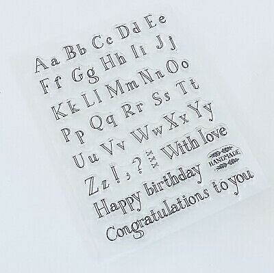 Alphabet Clear Stamps-lower Capital Letters/punctuation/birthday-messages • 6£