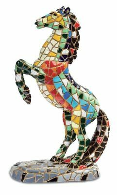 Mosaic Effect Rearing Horse Figurine Statue Sculpture Horses Lover Gift • 19.95£