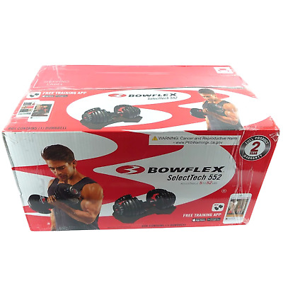 $ CDN367.91 • Buy Bowflex SelectTech 552 Adjustable Single Dumbbell, 5 To 52 LB NEW/SEALED IN HAND