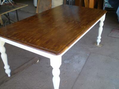 AU295 • Buy Large 6 To 8 Seater  Hamptons Country Style Table179 Cm Long Distressed Top