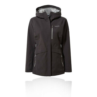 Craghoppers Womens Caldbeck Jacket Top Black Sports Outdoors Full Zip Hooded • 93.49£