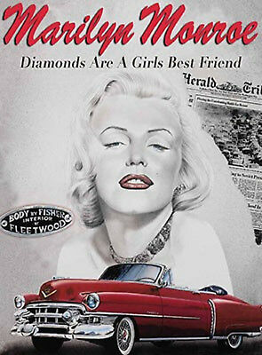£6.95 • Buy 50s Style American Diner Picture MARILYN MONROE Metal Sign Gift Idea Home Decor