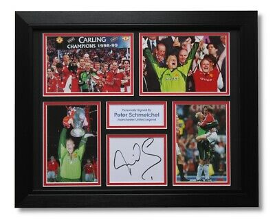 FRAMED Peter Schmeichel Manchester United SIGNED Autograph Photo Mount COA • 89.95£