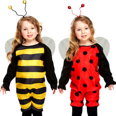 Ladybug Or Bee Toddlers Fancy Dress Animal Insect Girls Boys Costume 2 - 3 Years • 6.99£