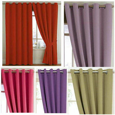 Woven Blackout Bedroom Eyelet Curtains - Stock Must Go - NOW £10, £15 & £20 • 20£