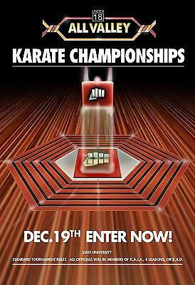 $14.24 • Buy Karate Kid Tournament All Valley Poster From 1984 Metal Tin Sign Well Pub Dec
