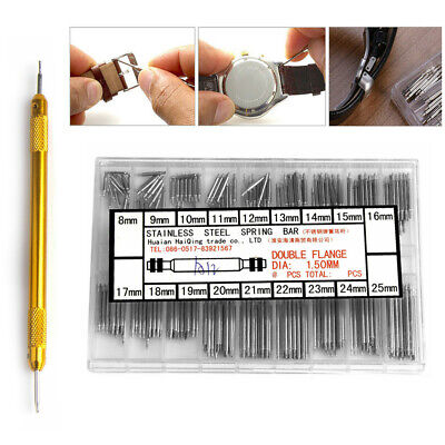 $ CDN9.51 • Buy Watchmaker Watch Band Spring Bars Strap Link Pin + Remover Repair Kit Tool Steel