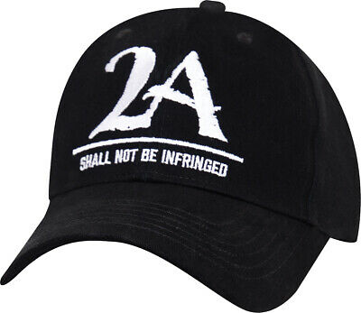 $ CDN14.85 • Buy Black 2A  Shall Not Be Infringed  Cap Second Amendment Low Profile Hat