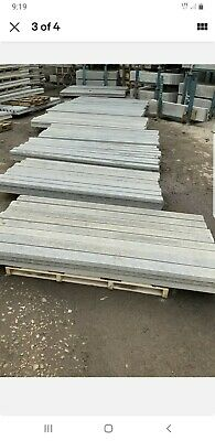 Buy Direct New Concrete Fence Post Slotted  6ft  7ft 8ft 9ft 10f. Gravel Boards  • 15£