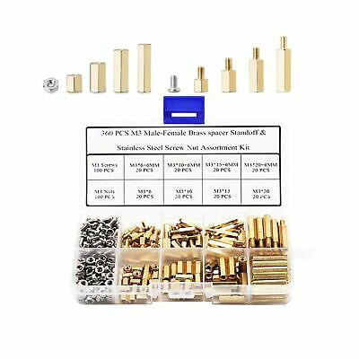 $20.86 • Buy Csdtylh 360 Pcs M3 Male-Female Brass Spacer Standoff & Stainless Steel Screw ...