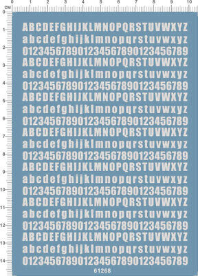£6.49 • Buy Water Slide Decals Different Scales Letter Number (61268 White) For Model Kits