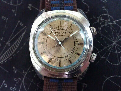 Rare Vintage USSR Poljot Alarm Signal 2612.1 18 Jewels Men's Russian Wrist Watch • 25£